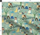 Best You Dancing Retro Party Love Summer Garden Spoonflower Fabric by the Yard