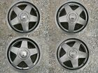 USED RARE VOLVO GEMINI 7 x 16 WHEELS with HUBCAPS and TOOL 240 740 940 V90 RWD