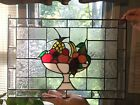 Vintage Stained Glass Fruit Bowl Sun Catcher Wall Window Hanging Kitchen Art
