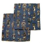 Blue Native American Ceremonial Wardrobe Design 19 Woven Pillow Covers Set Of 2