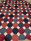 UNFINISHED AMERICANA SNOWBALL QUILT TOP PLUS BLOCKS