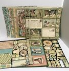 Graphic 45 ONCE UPON A SPRINGTIME Fairy Fairies Paper Cardstock Chipboard Lot