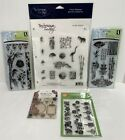 ASIAN Oriental Borders Lamps Fans Bamboo Garden Rubber Stamps Lot of 5