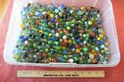 Huge Lot of Vintage Glass Marbles Toy Total 8lbs Cats Eye Colorful swirl Marble