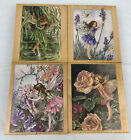 Lot of 4 Vintage Stamps Happen Flower Fairies Rubber Stamps Cicely Mary Barker