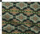 Deco Mosaic Tile French Pattern Bright Brocade Spoonflower Fabric by the Yard