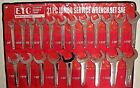 SAE 21 pc Jumbo Hydraulic Line Service Open End Wrench Set Extreme Torque ETC