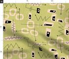 Mid Century Modern Abstract Atomic Era Fabric Printed by Spoonflower BTY