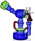 COOL 7 Sidecar RECYCLER Bong THICK Glass Water Pipe DOUBLE Chamber Hookah USA