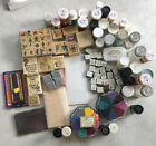 Large Lot of Rubber Stamps  Embossing Craft Supplies