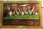 Coolidge Collection Dogs Playing Pool Poster