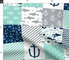 Wholecloth Cheater Quilt Baby Cute Nursery Spoonflower Fabric by the Yard