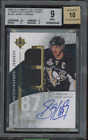 2009 ULTIMATE SIDNEY CROSBY AUTOGRAPH 25 DUAL GAME JERSEY BGS 9 AUTO 10