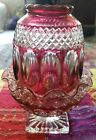 Vintage Westmoreland Wakefield Ruby Red Flashed Glass Fairy Lamp