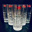 VTG LAUSITZER 24 LEAD CRYSTAL DRINKING GLASSES SET OF 6 TUMBLERS GERMANY