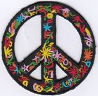 50 Pcs Peace in Round stars Embroidered Patches 3 Diameter iron on