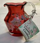 Fenton Pitcher 4 Country Cranberry Hand Pitcher Painted Signed By K Brightbill