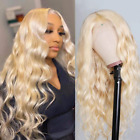 613 Blonde Lace Front Wig Human Hair 24 inch Pre Plucked Body Wave Human Hair