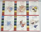 Lot of 6 Studio Bernina Embroidery Cards 126 127 128 129 130 and 132