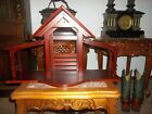 Lenox 1994 First Blessing Wooden Creche Manger Cherry Stained Large 5 Piece