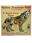 Native American Wolf Shaped 750 pc Jigsaw Puzzle by SunsOut Made In The USA