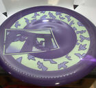 Joan Irving Studio art glass large plate Purple charger acid etched signed