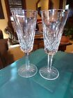 WATERFORD Crystal LISMORE Set Of 2 FLUTED CHAMPAGNE GLASSES 7 1 4