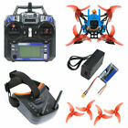 QWinOut T100 DIY FPV Racing Drone Toothpick Kit with Flysky Receiver FPV Goggles