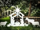 Outdoor Nativity Scene Yard Display Front Lawn Free Shipping