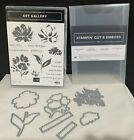Stampin Up ART GALLERY Floral Flowers Greetings Framelits Dies Rubber Stamps Lot