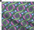 Wax West Africa Batik Style African Art Memphis Spoonflower Fabric by the Yard