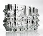 Superb Czech clear glass geometric vase Made by the Rosice glassworks 1960s