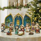 Nativity Set Baby 12 Piece Christmas Hand Crafted Hand Painted Indoor Religious
