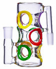 THICK 18mm 90 Swiss Cheese Ash Catcher CUTE Bong HEAVY Glass Water PIPE USA