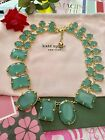 Stunning Kate Spade COATED CONFETTI Statement Collar Necklace Green Gold