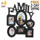 6 Opening Multi sized Picture Frame Family Wall Collage Holder 2DAY FREE SHIP