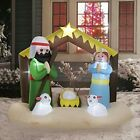 8 FT Wide Christmas Blowups Decoration Outdoor Lighted Inflatable Nativity