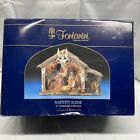 Roman Fontanini Lighted Stable 6pc Nativity Set 5 Scale 54567 Christmas NEW