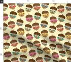 Glasses Cute Kids Baby Acorn Hipster Fall Autumn Spoonflower Fabric by the Yard