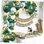 Safari Baby Shower Decorations Jungle Theme Party Supplies with Lush Green