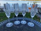 Set 4 Champagne Flutes Glasses in BROOKSIDE by Waterford Crystal Excellent Cond