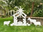 Outdoor Nativity Scene Yard Display Set  Front Lawn Free Shipping