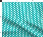 Micro Scale Bunny Glasses Teal Polka Cute Easter Spoonflower Fabric by the Yard