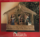 DILLARDS TRIMMINGS Gold Stable with Musical Nativity Scene Joy to the World