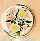 Stunning Rick Ayotte A Touch of Class Pink and Yellow Roses Paperweight