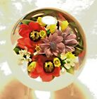 Stunning Rich Ayotte Colorful Flower Bouquet Glass Paperweight