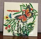 Monarch Garden - Ceramic Art Tile Handpainted Glaze