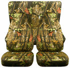 Fits JEEP WRANGLER CJ CAR SEAT COVERS frontrear in hunter camouflage design