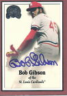 BOB GIBSON 2000 Greats of the Game # 68 Autograph card