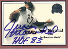 JUAN MARICHAL Autograph 2000 Greats of the Game #61card